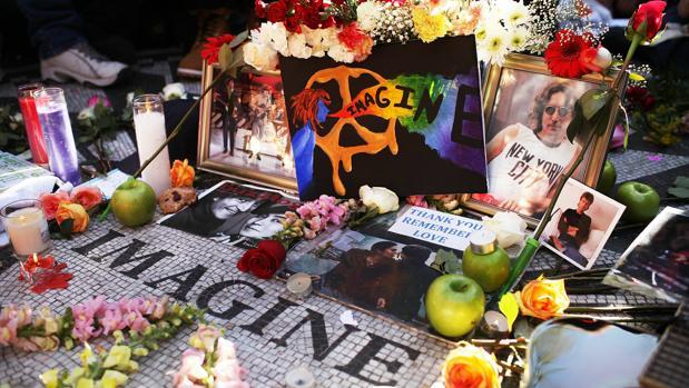 Memorial dedicado a Lennon en Central Park, Nueva York