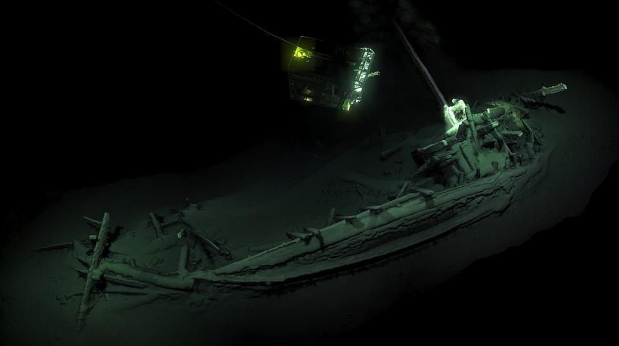 Descubren el barco hundido más antiguo del mundo en el fondo del Mar Negro