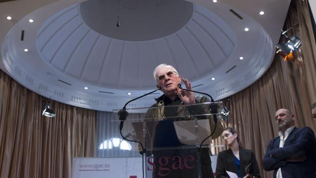 Teddy Bautista, durante una entrega de premios de la SGAE
