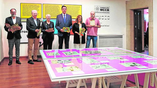 La inauguración de la exposición, en la Fundación MCCB en Cáceres