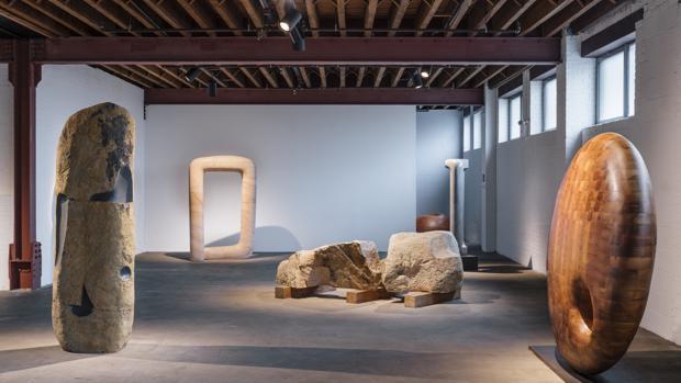 Obras de Jorge Palacios en el Museo Noguchi