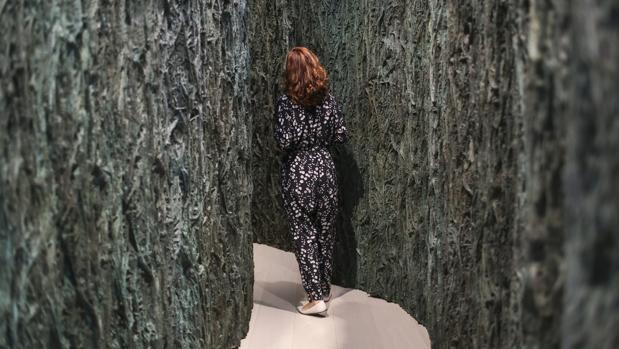 Detalle de la exposición de Cristina Iglesias en el Centro Botín de Santander