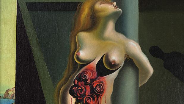 «Las rosas sangrantes» (1930), de Dalí. Detalle