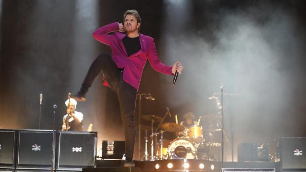 Dani Martín, durante un concierto en Sevilla