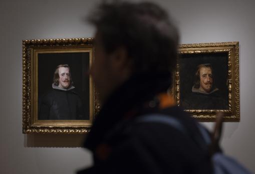Picasso copió en la obra que aparece a la derecha el «Retrato de Felipe IV» de Velázquez (a la izquierda)