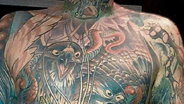 Uno de los tatuajes de Chris Wenzel