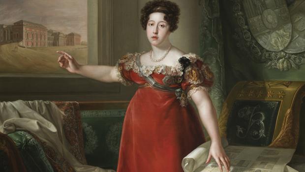 Óleo de Isabel de Braganza, de López Piquer