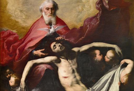 Detalle de «La trinidad», de Ribera