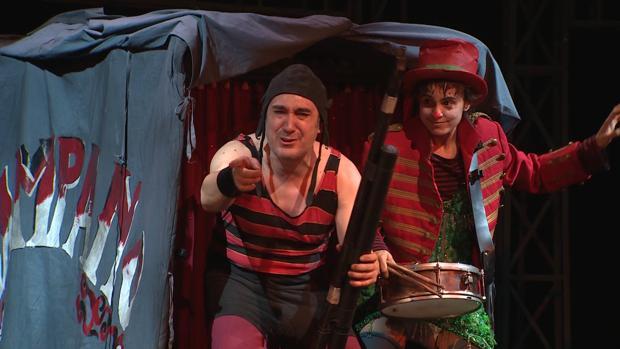 Una escena del montaje teatral de «La Strada», dirigido por Mario Gas