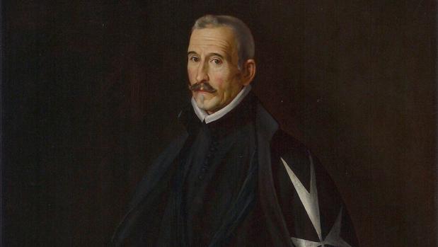 Retrato de Lope de Vega firmado por Juan Van der Hamen y León