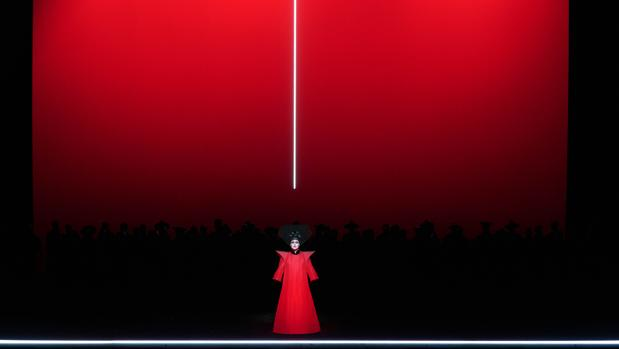 Irene Theorin, en una escena de «Turandot»