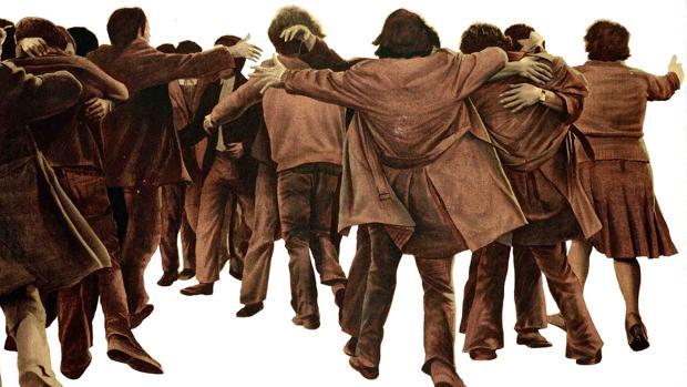 «El abrazo» (1976), de Juan Genovés