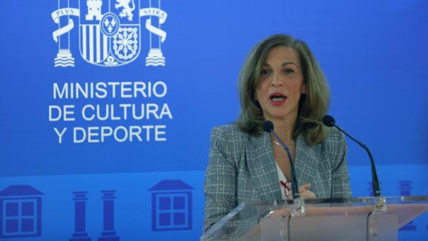 La directora general del Inaem, Amaya de Miguel, durante su comparecencia