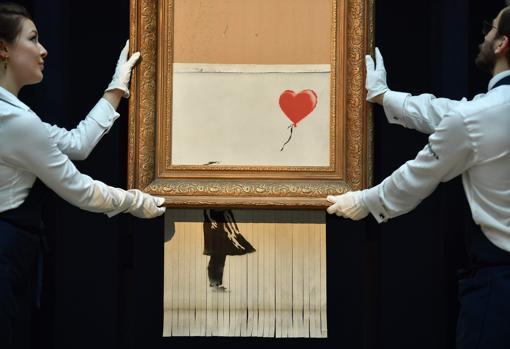 Una de sus obras fue triturada al subastarse en Sotheby's