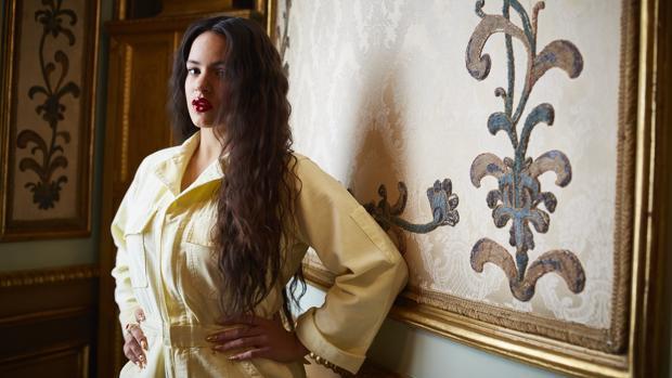 Rosalía, durante una entrevista con ABC