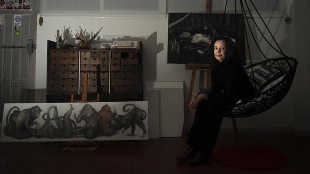 Ana Juan en su estudio