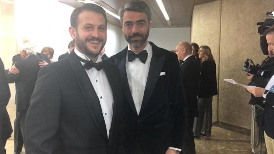 El redactor jefe de España de ABC, Juan Fernández Miranda, y el consejero delegado de Vocento, Luis Enríquez