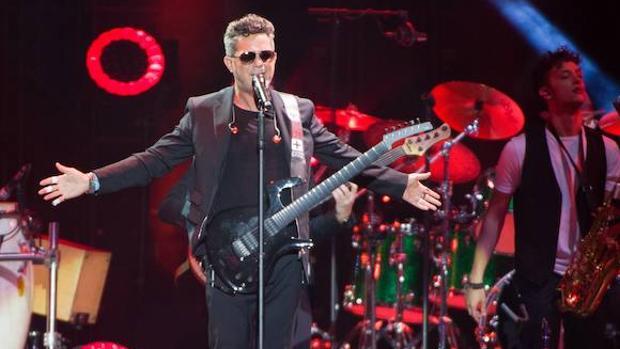Alejandro Sanz, durante un concierto en 2017