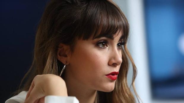 Aitana, cantante de OT, durante una entrevista