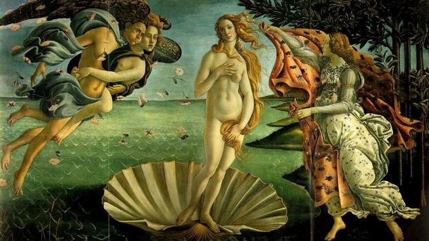 «El nacimiento de Venus», de Botticelli