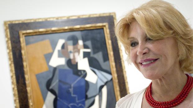 La baronesa Carmen Thyssen, fotografiada en el museo que lleva su nombre en Málaga