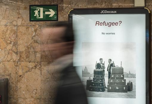Una de las obras de «Umbral» en el metro de Barcelona