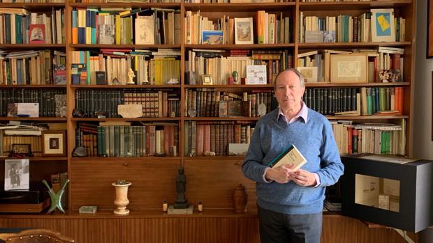 Ignacio Gómez de Liaño, en su casa durante la entrevista