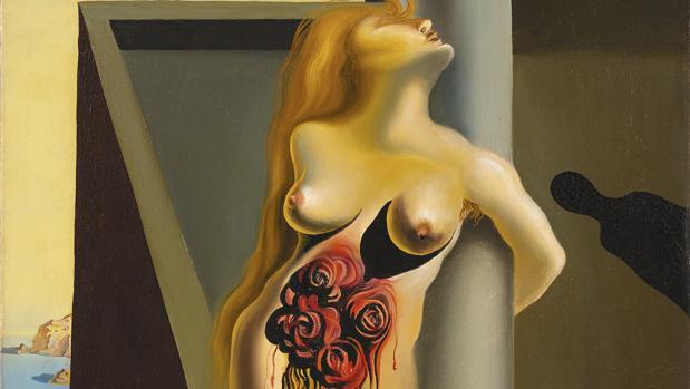 «Las rosas sangrientas» (1930), de Dalí. Detalle