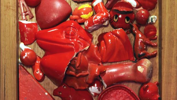 Detalle de «Corazón monstruoso. Rojo»