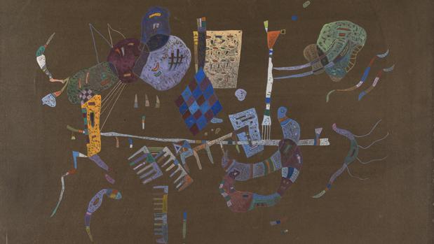 «Alrededor de la línea» (1943), de Kandinsky
