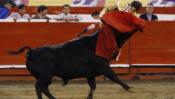 Álvaro Lorenzo, prendido por el manso sexto
