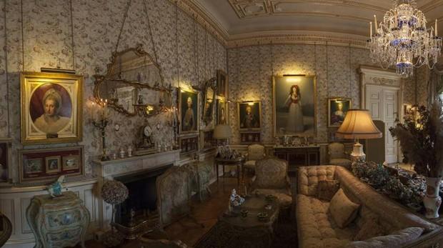 Vista del salón Goya en el Palacio de Liria en Madrid