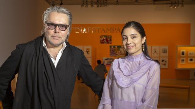 David Downton y Laura Gulshani, en el Museo ABC