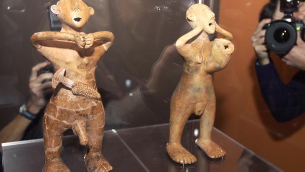 Imagen de archivo de la inauguración de una exposición sobre arte persa en Sevilla en el Museo de Bellas Artes