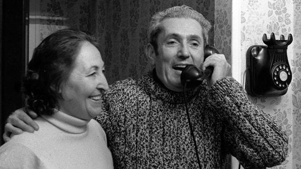 Marcelino Camacho con su mujer, Josefina Samper