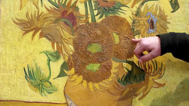 Imagen del cuadro, durante la rueda de prensa celebrada hoy en el Museo Van Gogh de Ámsterdam