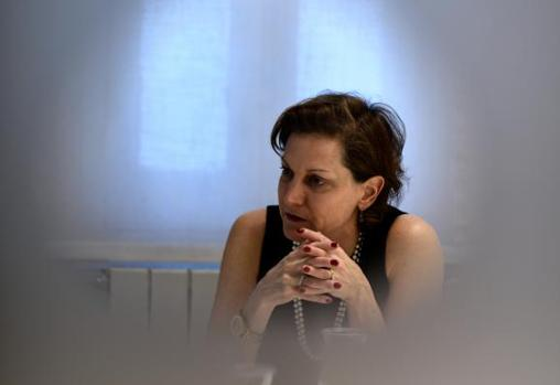Anne Applebaum durante la entrevista celebrada en Madrid