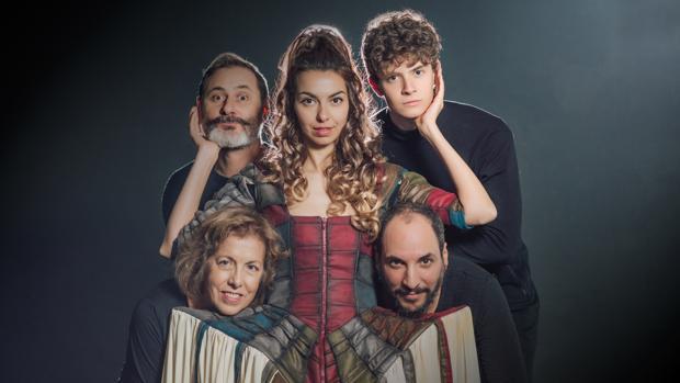 Alba Banegas, Antonio Hernández, Sol López, Carlos Lorenzo y Diego Morales