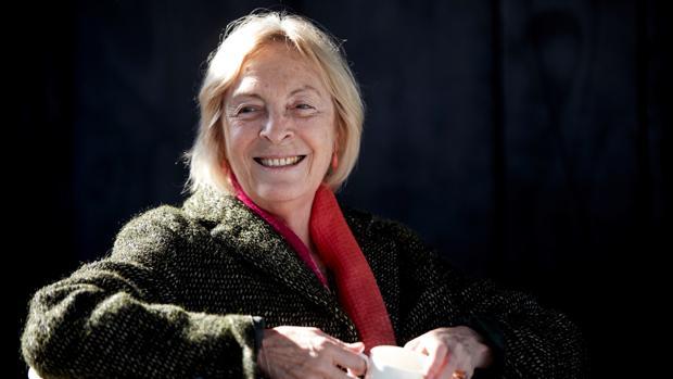 Soledad Puértolas, ayer en Barcelona