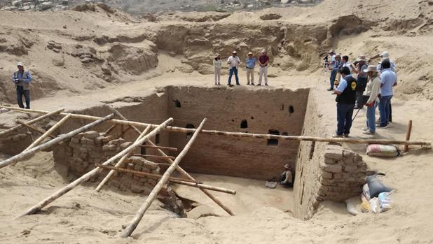 La cámara funeraria inca descubierta en la costa norte de Perú