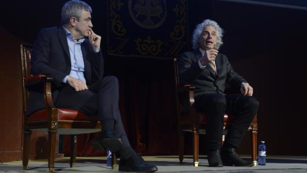 Garicano y Pinker, ayer durante el debate