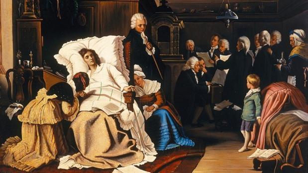 «Mozarts letzte Tage(Últimos días de Mozart)», de Hermann von Kaulbach (1873)
