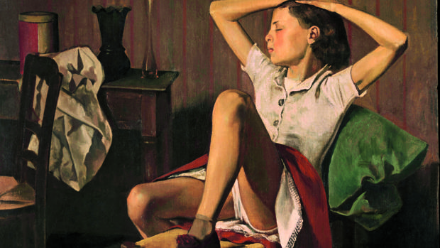 «Thérèse soñando» (1938), de Balthus. Detalle