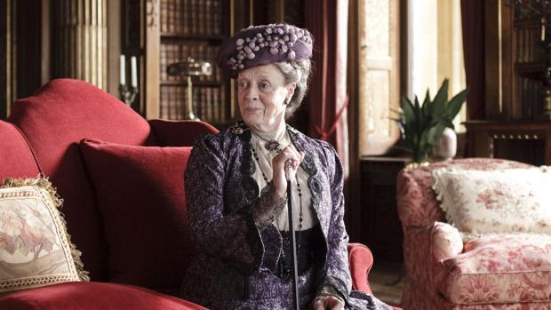 Maggie Smith, en una escena de la serie «Dowton Abbey»
