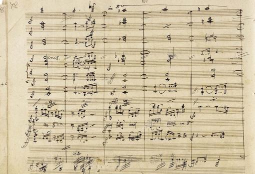 Partutura autógrafa de la Novena Sinfonía