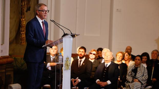 José Guirao, durante la entrega de las medallas de Oro de las Bellas Artes en Córdoba