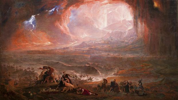 «La destrucción de Pompeya y Herculano», de John Martin (1822)