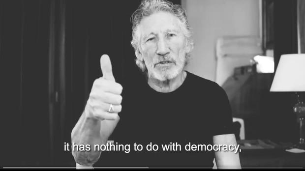 El fundador de Pink Floyd en el vídeo contra el concierto pro Venezuela