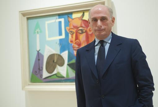 Bernard Ruiz Picasso, en el museo de su abuelo en Málaga en una imagen tomada en 2018