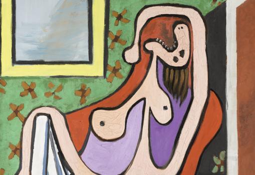 Picasso. «Gran desnudo en un sillón rojo» (1929). Detalle. Museo Picasso, París